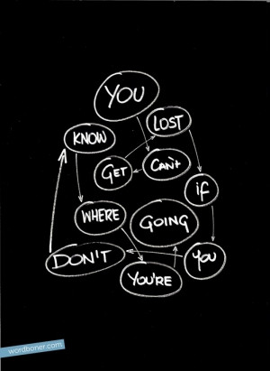 You cant get lost if you dont know where you going