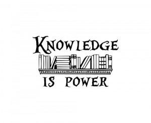 Knowledge Is Power vinyl lettering home wall decal decor art quote