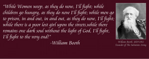 william booth while women weep armybarmy while women