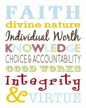 LDS Young Women Values