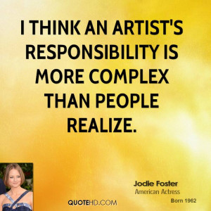 Jodie Foster Art Quotes