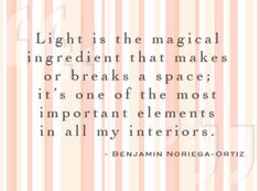 interior #design #quote #light www.nysid.edu More