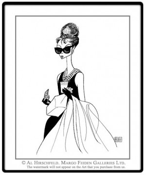 Here, the true genius of Al Hirschfeld is obvious. The woman is ...