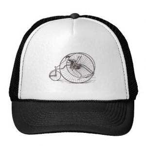 Vintage Big Wheel Bicycle - Cycling Sports Trucker Hats