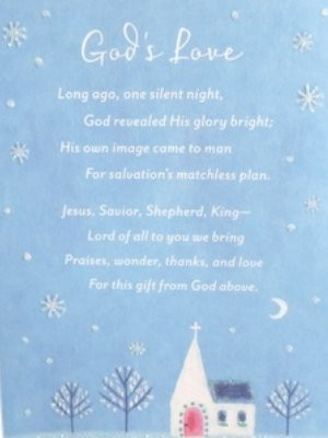 Christian Christmas Cards God's Love Is Jesus Cards with Old Fashioned ...