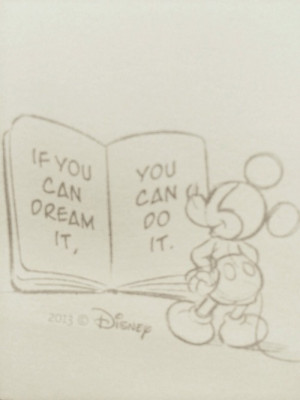 disney, dream, love, mickey mouse, minie mouse, quotes, you can do it ...