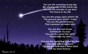 You Are My Shining Star - Poem