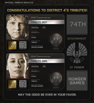 District 4 tributes, 74th Hunger Games