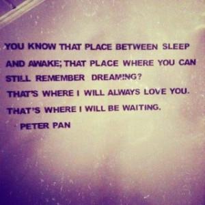 Thats where I'll be waiting