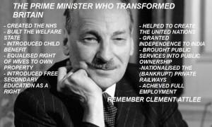Clement Richard Attlee, 1st Earl Attlee, KG OM CH PC FRS