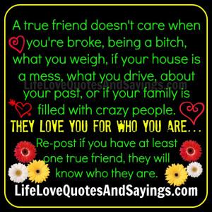 True Friend Doesn't Care..