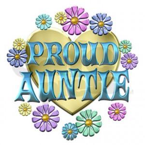 Proud Auntie Cafepress Tshirt