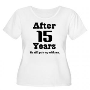 anniversary gifts 15 year anniversary womens 15th anniversary funny ...