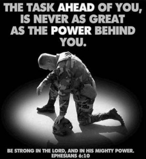 Ephesians 6:10 Be strong in the Lord