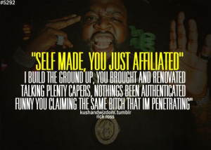 rick ross quotes | Rick Ross, CONFIDENT, BOLD, SELF MADE, rap, rap ...