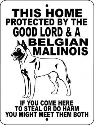 Belgian Malinois Dog Sign 9