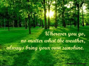 greenery always weather quotes