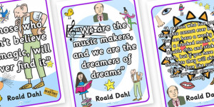 ... roald dahl, roald dahl quotes, roald dahl display posters, quotes
