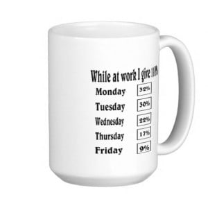 work coffee mug.
