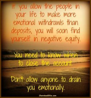 Emotionally Draining People Quotes. QuotesGram