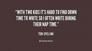 ... hard to find down time to write so I often write during their nap time