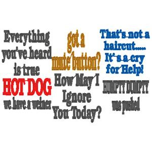 Details about 65+ funny sayings machine embroidery designs Buy1Get1