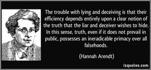 entirely upon a clear notion of the truth that the liar and deceiver ...