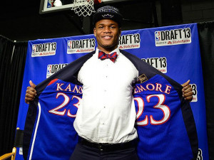 Ben McLemore had his Kansas jersey sewn into the lining of his suit he ...