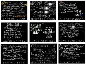 LOTR quote alignment grid by gehnloa