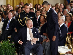 Obamatoasts Bush: 'We are surely a kinder and gentler nation because ...