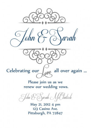 Source: http://www.etsy.com/listing/104033768/vow-renewal-invitation ...