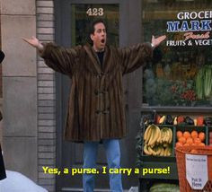 Seinfeld quote - Jerry after his European carryall is stolen, 'The ...