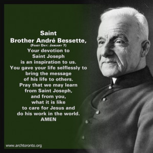 Prayer to St. Brother Andre Bessette (Feast: January 7)