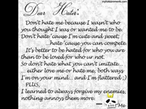 ... Photogallery i♥me Message To My Biggest Fan :) My Haters :) PENGS