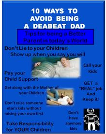 10 ways to avoid being a deadbeat dad lol