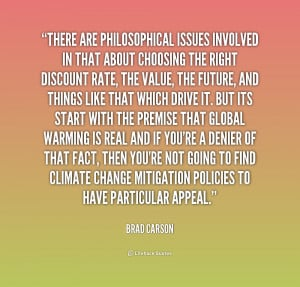 quote Brad Carson there are philosophical issues involved in that 2