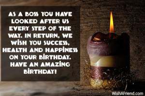 ... wish you success, health and happiness on your birthday. Have an