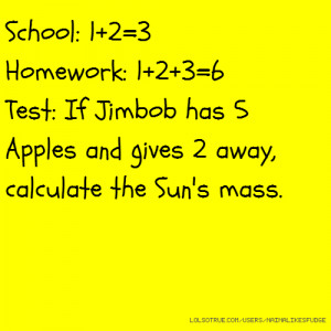 Related Pictures maths quote test quotes school funny comic hilarious ...