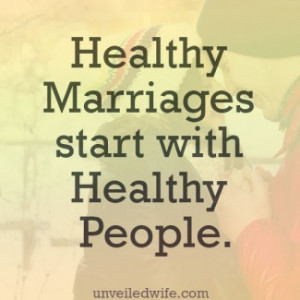 Healthy Marriages Start with Healthy People