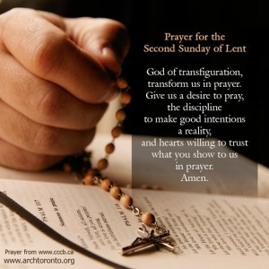 Prayer for the Second Sunday of Lent
