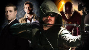 ... and The Flash, plus footage from Constantine and Arrow: Season 3