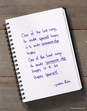 ... : What's the Best Way to Make Yourself Happy? Someone Else Happy