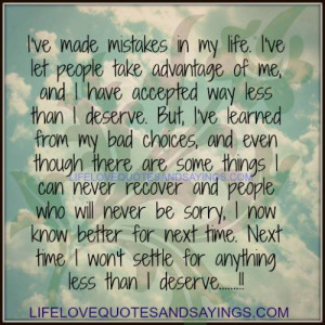 ve Made Mistakes In My Life..