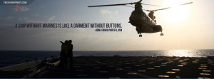 Ship Without Marines Quote Facebook Cover