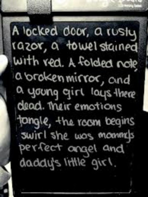 and daddy's little girlLittle Girls, Suicide Quotes, Depression Quotes ...