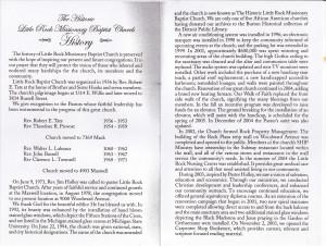 Little Rock Baptist Church 69th Anniversary Church Program