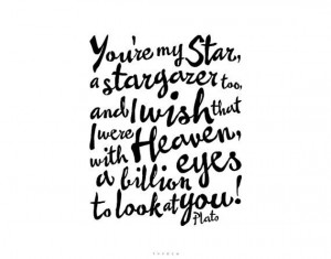 Stargazer, Printable Plato Quote by typoem