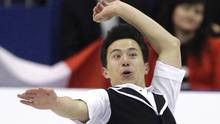 Patrick Chan of Canada performs during his men's short program at the ...