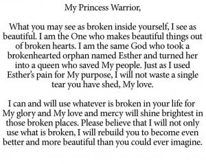 To My Princess Warrior: Princesses Warriors, My Princesses, Jesus ...