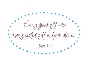 Every Good Gift Scripture Vinyl Wall Decal Bible Verse James 1:17 for ...